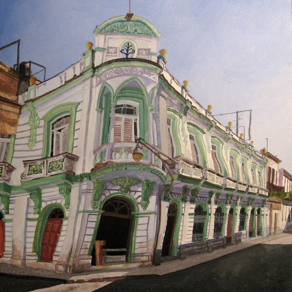 La Habana Vieja, La Habana. Acrílico y óleo sobre lienzo, 50 x 50 cm. 2008.