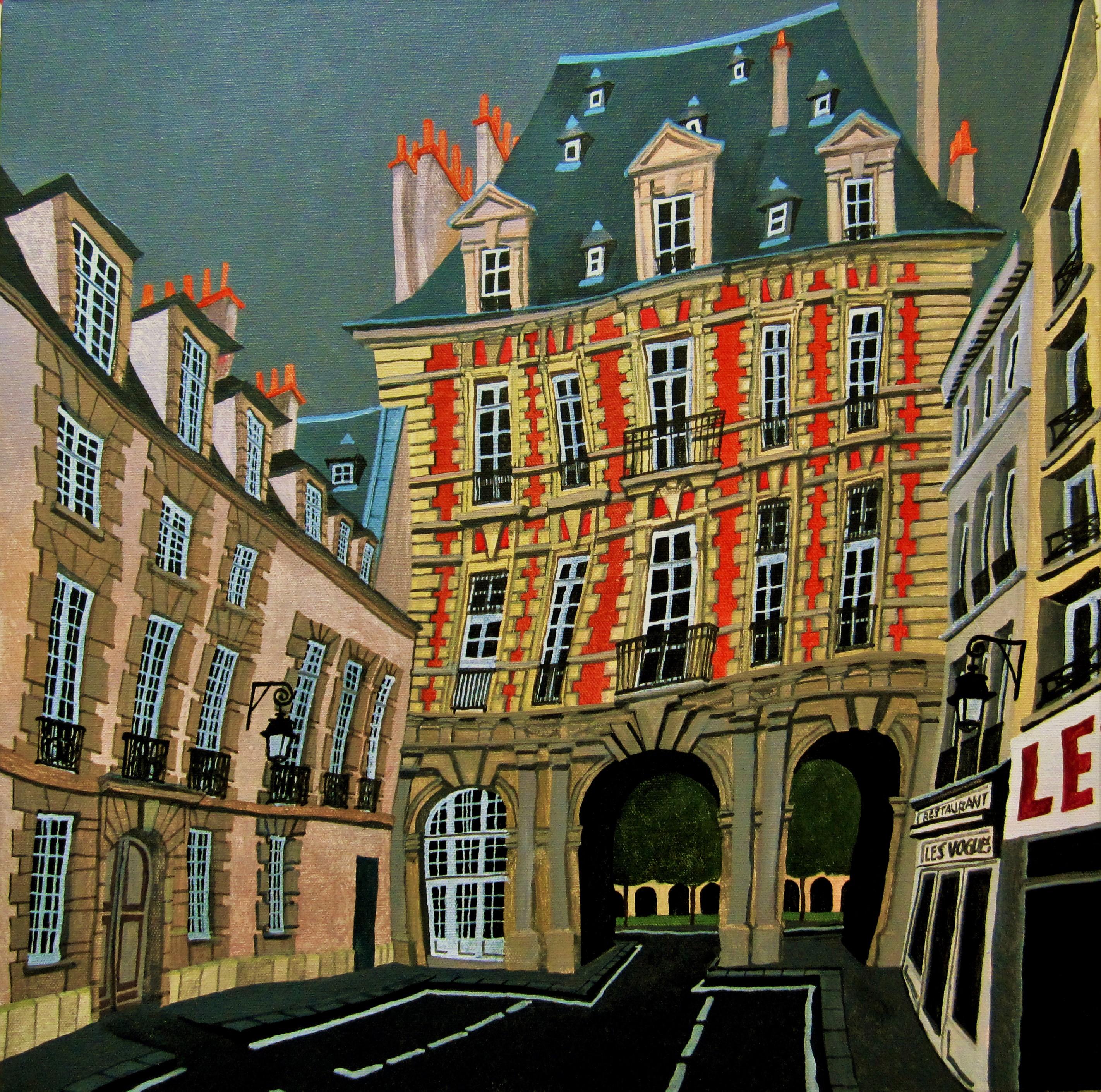 París, Le Marais. 4e arrondissemet. Des Vosges.