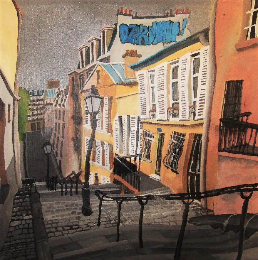 París. Montmartre. Acrílico y óleo sobre lienzo, 50 x 50 cm. 2014.